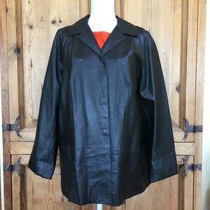 DKNY Black Leather Jacket